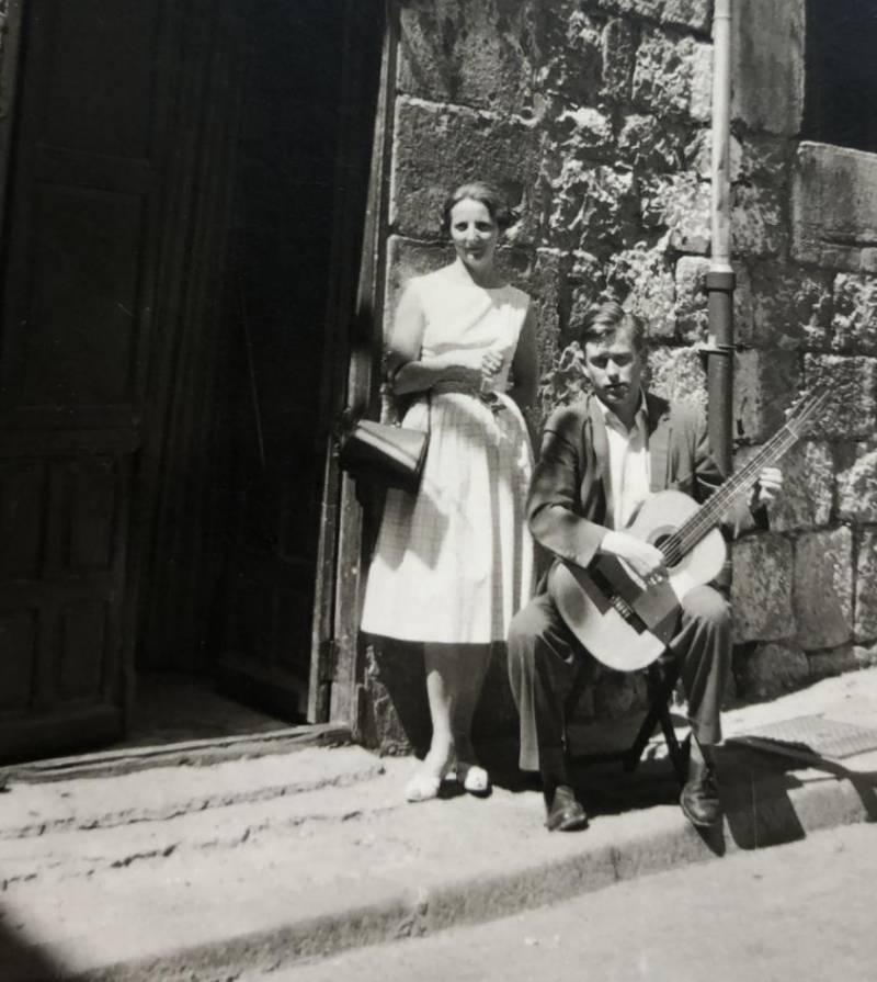 Mr. and Mrs. Nierstrasz in Spain.
